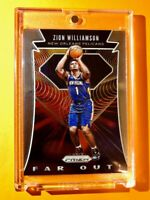 Zion Williamson PANINI PRIZM ROOKIE 2019-20 FAR OUT INSERT NEW ORLEANS RC Mint!