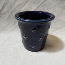 Longaberger Pottery Votive Candle Holder Proudly American Blue