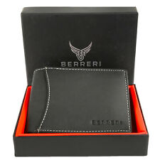 Boxed Mens Leather Wallet RFID safe Quality Credit Card holder Purse Brown Gift