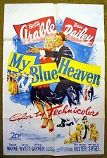"""Dancing & Singing Duo adopt a baby in """"MY BLUE HEAVEN"""" Betty Grable poster"""