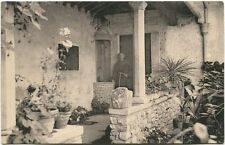 Primi '900 Fiesole Convento San Francesco Antico Chiostro giardino FP B/N