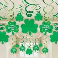 St Patricks Day Hanging Swirl Decorations x 30