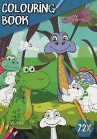 Colouring Book - Malbuch für Kinder - Dinosaurier, Drachen und viele andere #024