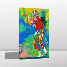 HD Print LeRoy Neiman Joe Montana Game Home Art Deco Painting on Canvas 24x44