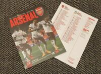 Arsenal v Aston Villa PREMIER LEAGUE Matchday Programme 8/11/2020!READY TO POST!