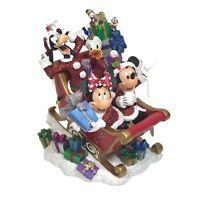 Disney Parks Christmas Sleigh - Mickey & Minnie Mouse Goofy Donald Chip Glitter