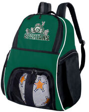 Michigan State Peace Frog SOCCER BACKPACK or Volleyball Gear Bag BACKPACKS