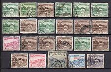 Echte gestempelte ungeprüfte Briefmarken aus Asien