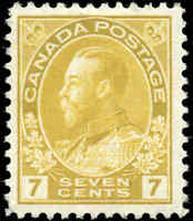 1911 Mint Canada Scott #113 7c Admiral King George V Issue Stamp Never Hinged