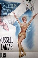 FLAMINGO HOTEL original 1955 movie poster LAS VEGAS SHOWGIRLS/THE GIRL RUSH