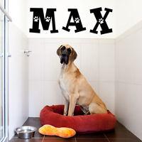 CUSTOM DOG NAME VINYL WALL DECAL STICKER ART-LETTERS/WORDS HOME DECOR-MURAL