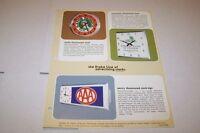 Vintage DRAKE advertising clocks - ad sheet #0179 (GATOR PRODUCE)