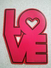 "(#2) LOVE Die-cut Refrigerator Magnet 3 1/2"" x 4 1/2"" NEW"