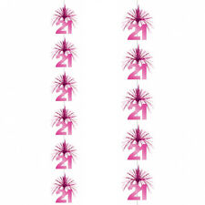 7ft  Pink 21st Birthday Party Cascade Column Decoration