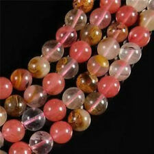 8mm Multicolor Watermelon Tourmaline Gems Round loose Beads 15inch