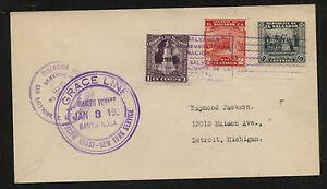 El  Salvador   Grace Line  ship  Santa Rosa  1933 maiden voyge     AT0518