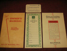 1954 WILLY'S MODELS 675-B AND 685-B OWNER'S MANUAL SET / GUIDE / NICE ORIGINAL