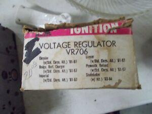 vr 706 regulator chrysler imperial  studebaker 61 62 63 64 65 66 67 valiant