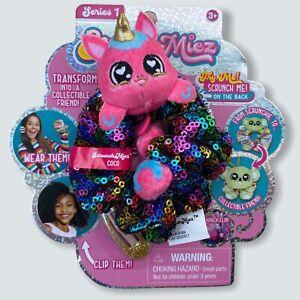 ScrunchMiez Coco Unicorn Ultra Rare Black Sequin Hair Scrunchy Backpack Clip Toy