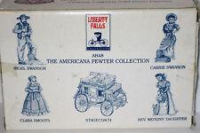 5 Pewter Figures Ah48 Mib 1994 Liberty Falls Stagecoach Smoots Swanson Watkins