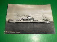Cartolina Marina Navigazione Navi - Motonave Sebastiano Caboto 1950 ca