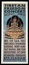 Beck Poster Radiohead R.E.M. Silkscreen Tibetan Freedom Concert Signed Rolo Taz