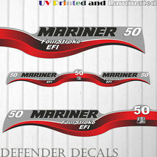Mariner 50 HP EFI four stroke outboard engine decal sticker set kit reproduction