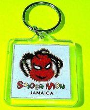 VTG Marvel JAMAICAN SPIDERMAN Spider-MON Keychain Action Figure Key Ring Holder