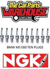 TEN ( x10 ) BMW M5 V10 E60 NGK SPARK PLUGS XX FREE POSTAGE XX NGK4471/LKR8AP