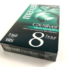 Maxwell Video Tape VHS Blank GX-Silver High Quality T-160 8 hour