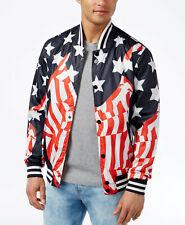 Reason Brand Men's American Flag Stars & Stripes Windbreaker mesh lined Jacket