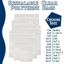 Small Grip Seal Zip Lock Polythene Self Resealable Clear Plastic Bags 1 -100,000