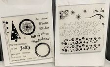 Papertrey Ink WINTER CHEER Christmas Tree Holiday Clear Rubber Stamps Set