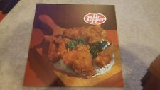 Vintage Dr. Pepper Drive-in movie theater Snack Bar flexible sign. Fried chicken