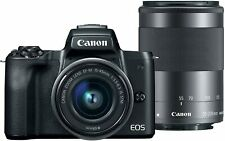 CANON EOS M50 MIRRORLESS CAMERA BODY with EF-M15-45MM and EF-M 55-200MM LENSES