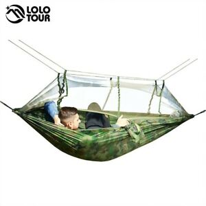 Folding Hammock Steel Stand Camping Outdoor Travel Swing 100% Comfortable