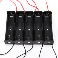 5x Black Battery Storage Box Case Holder for 3.7V 18650x1 Batteries ZTEBUKSFFR
