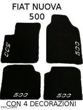 FIAT NUEVA 500 alfombrillas alfombrillas a medida4 logotipos 4 bloque