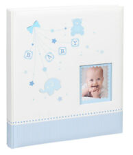 Baby Start Fotoalbum in Blau 29x32 cm 60 weiße Seiten Foto Album Fotobuch