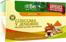 Turmeric and Ginger Tea (Te de Curcuma y Jengibre) by Betel Natural - 24 Tea Bag
