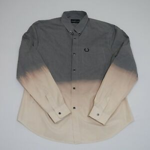 Fred Perry Men's Multicolor Checkered Button Down Shirt Size 40 M-L See Sizes