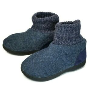 Zigzagger Womens Memory Foam Bootie Slippers Cozy Winter House Shoes US 8 Navy
