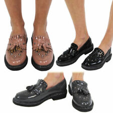 Standard Width (B) Loafers Patent Leather Flats for Women