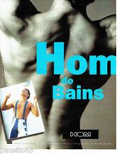 PUBLICITE ADVERTISING 096  1994  Hom sous vetements maillots bain homme