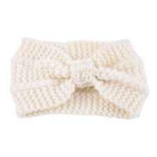 Fashion Womens Bowknot Hair Band Headwrap Winter Crochet Knit Wool Headband GW