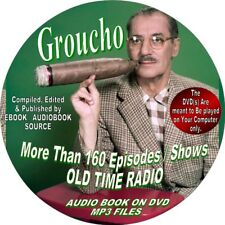 GROUCHO MARX ON OLD TIME RADIO-160+ SHOWS-AUDIOBOOK ON DVD-COMEDY-MP3 ON DVD