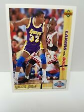 MAGIC VS JORDAN Classic Confrontation Lakers vs Bulls 1991 Card Mint Condition