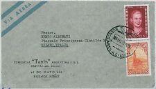 ARGENTINA-STORIA POSTALE: posta Aerea per Italia - 1955-evita!
