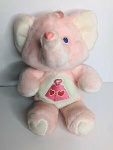 """Vintage 1984 Kenner Care Bear Cousins 13"""" Lotsa Heart Elephant Plush"""