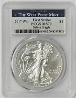 2017 MS-70 PCGS Silver Eagle Struck West Point Mint $1 First Strike